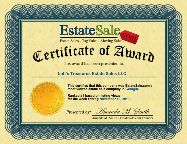 Most viewed estate sale company in the state of Georgia